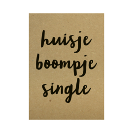 Kraft poster - Huisje boompje single