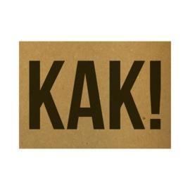 Ansichtkaart - KAK!