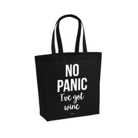 Premium tas zwart - No panic I've got wine