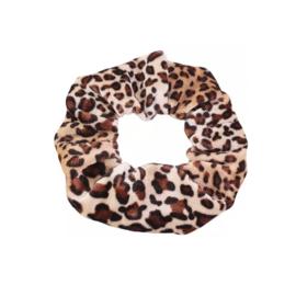 Yellow Leopard - Velvet scrunchie