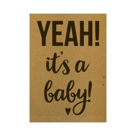 Ansichtkaart - Yeah! It's a baby!