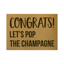 Ansichtkaart - Congrats Let's pop the champagne