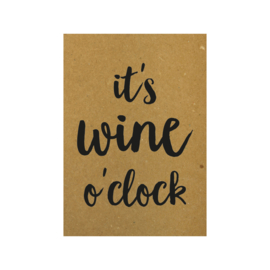 Ansichtkaart - It's wine o'clock
