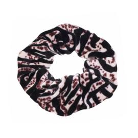Zebra - Velvet scrunchie