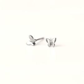 Vlinder oorbellen op wenskaart