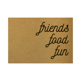 Ansichtkaart - Friends food fun