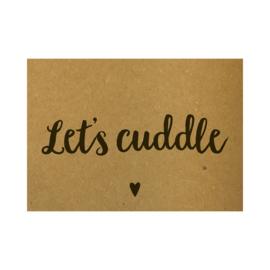 Ansichtkaart - Let's cuddle