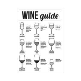 XL Poster - Wine guide