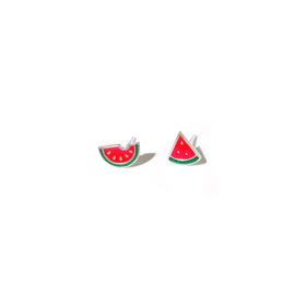 Watermeloen oorbellen op wenskaart