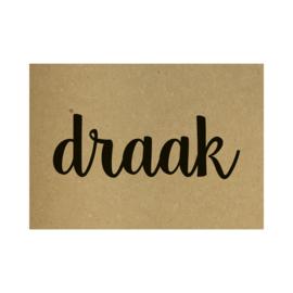 Kraft poster -  Draak