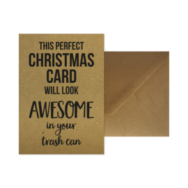 Kerstkaart met envelop - This perfect Christmas card will look awesome in your trash can