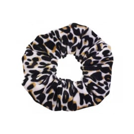 Black Leopard - Velvet scrunchie
