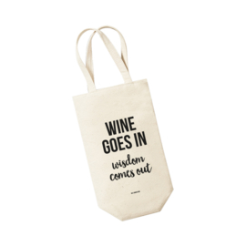 Wijntas -Wine goes in Wisdom comes out