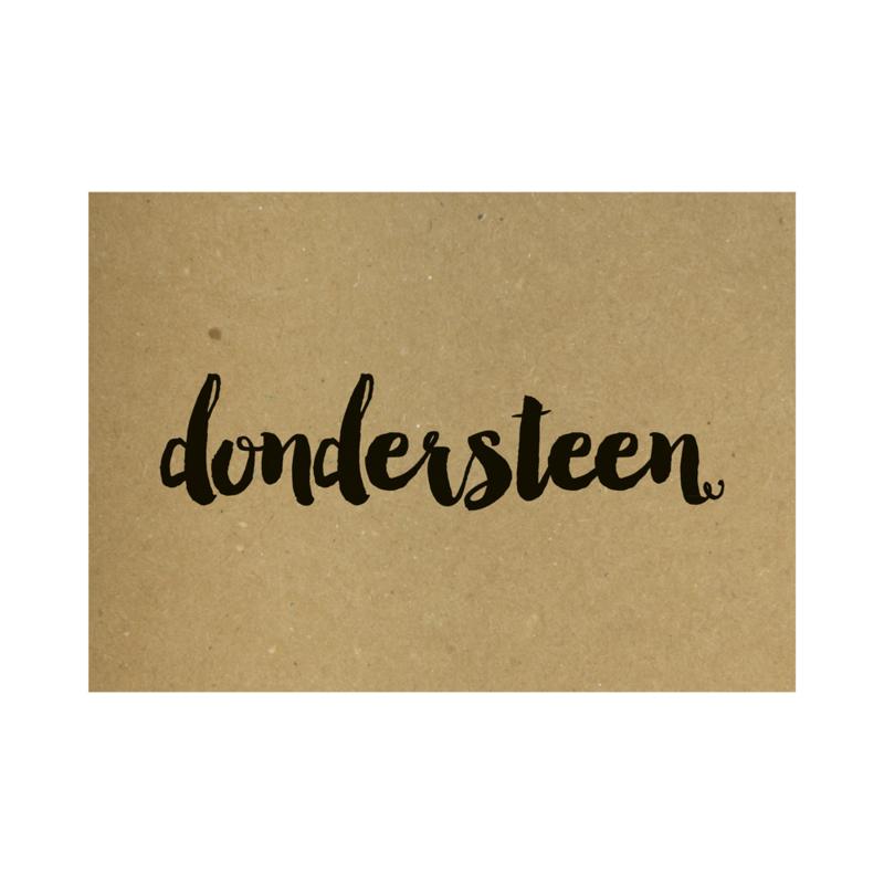 Kraft poster - Dondersteen