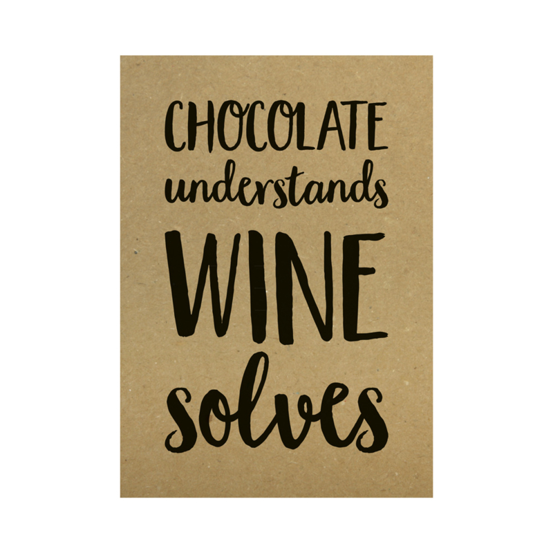 Kraft poster - Chocolate understands wine solves