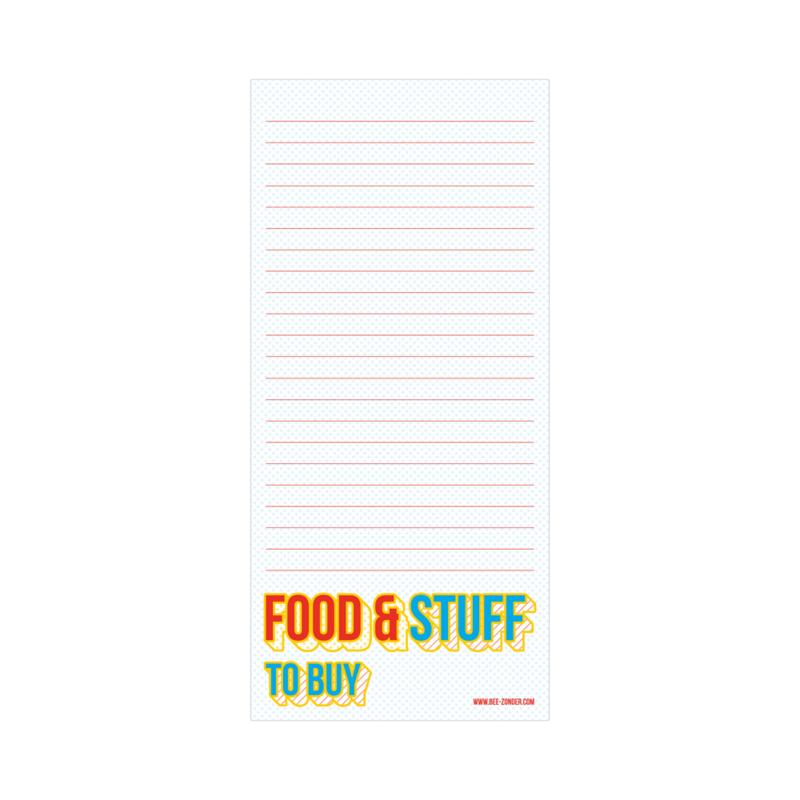 Notitieblokje 10x21 - Food & stuff to buy