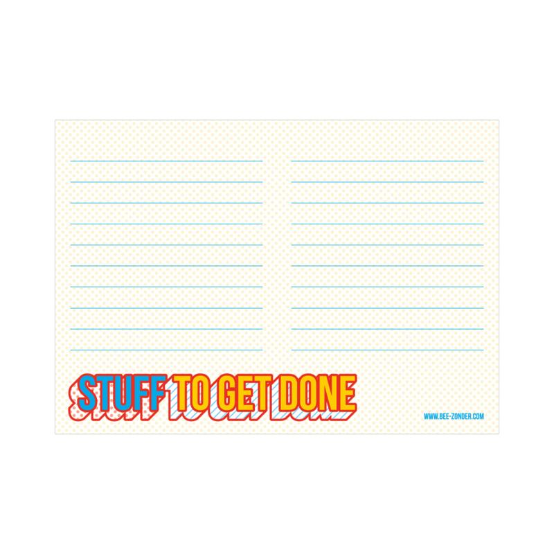 Notitieblokje A6 - Stuff to get done