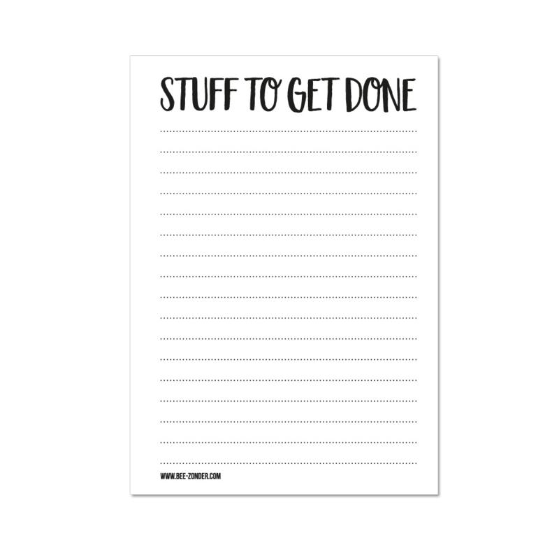 A6 Notitieblokje - Stuff to get done