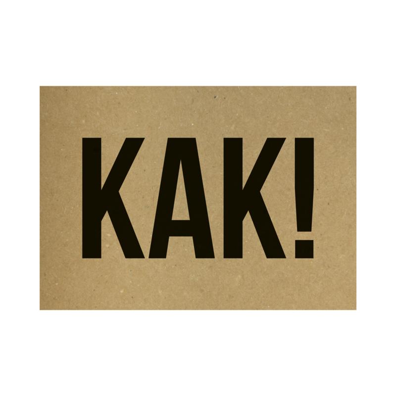 Kraft poster -  Kak!
