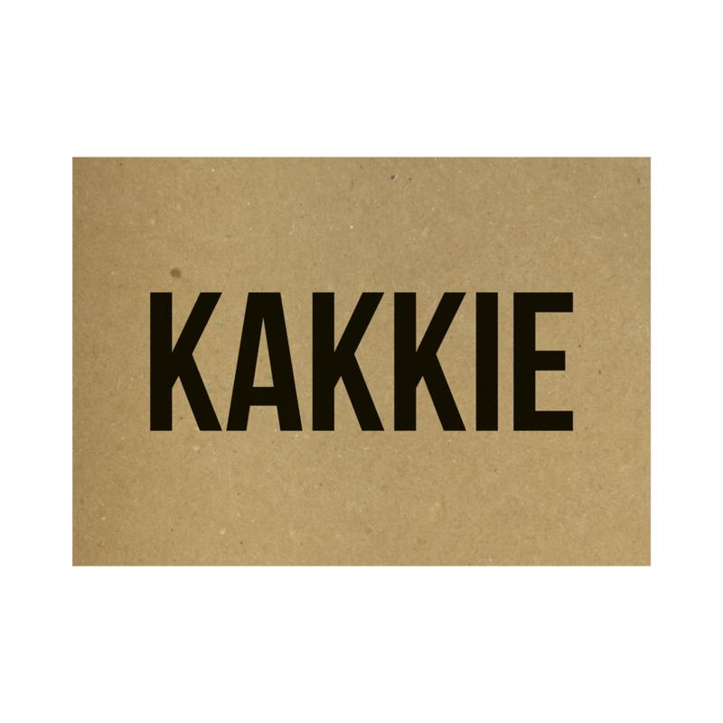 Kraft poster - Kakkie