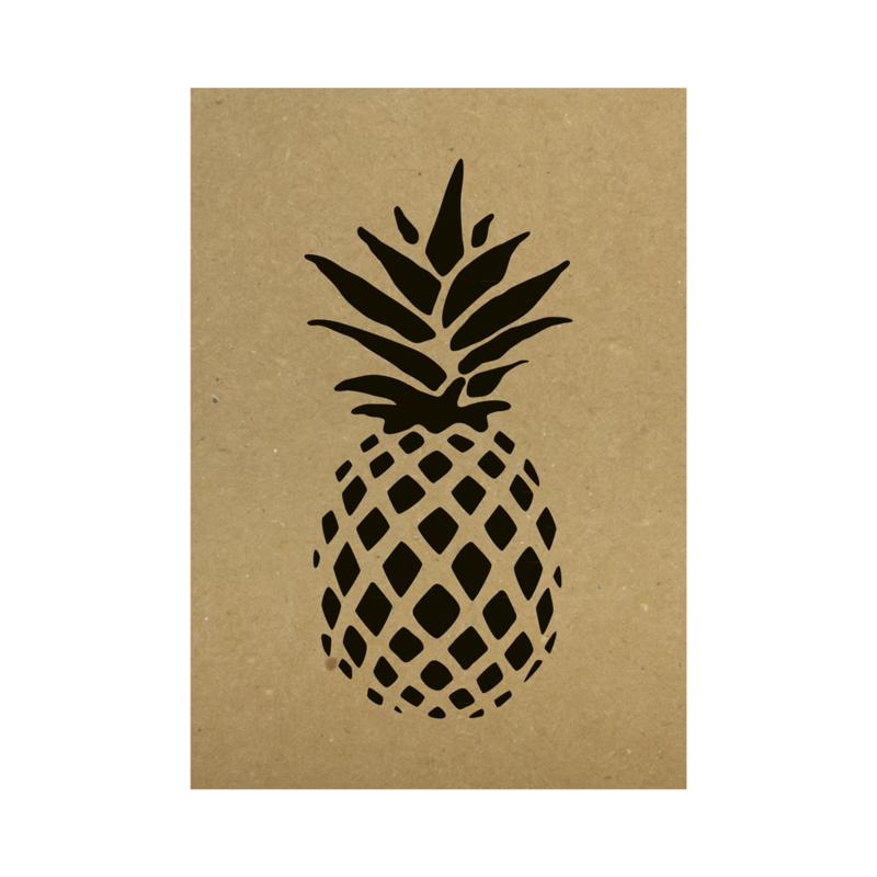 Kraft poster - Pineapple