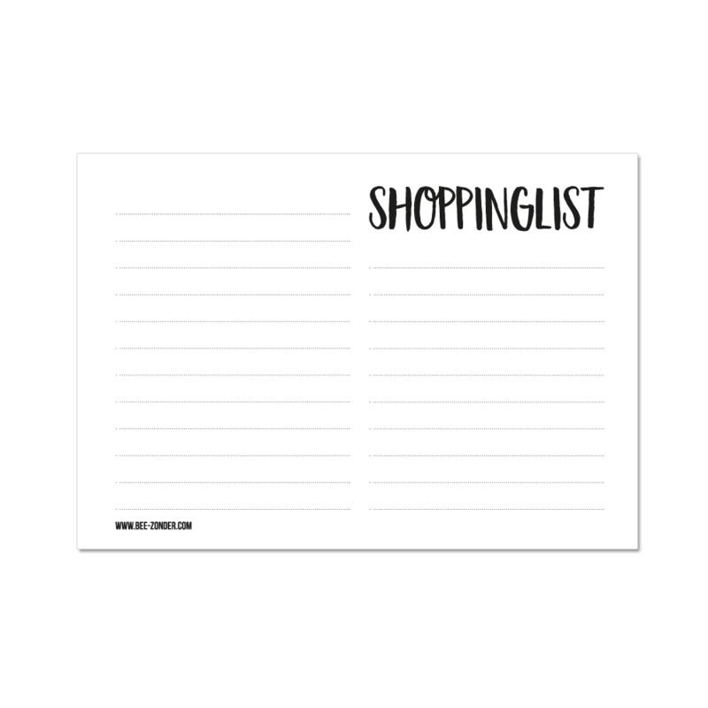 A6 Notitieblokje - Shoppinglist