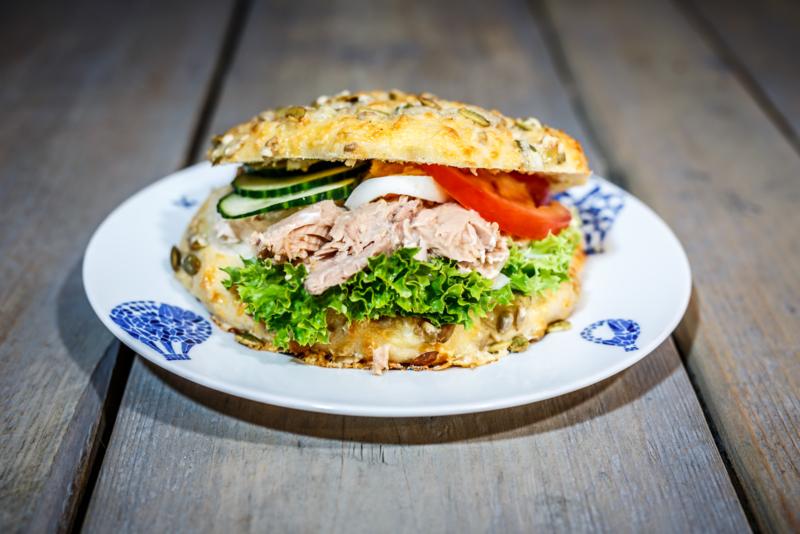 Broodje kaas-pompoenpitten, Tonijnsalade