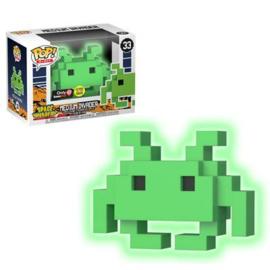Space Invaders: Medium invader (Groen GITD) Funko Pop 33