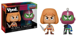 Masters of the Universe: He-Man + Trapjaw Vynl 2 Pack
