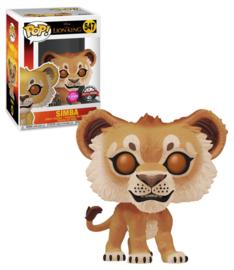 Disney The Lion King:  Simba (Flocked) Funko Pop 547