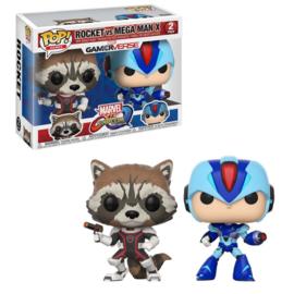 Marvel Gamerverse: Rocket vs Mega Man X Funko Pop 2 Pack