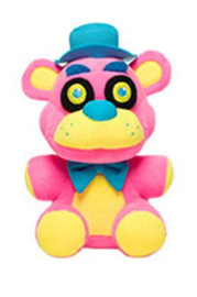 FNAF: Freddy Knuffel Blacklight (Roze) Supercute Plush