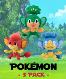 / Pokémon 3 Pack: Pansear - Panpour - Pansage \