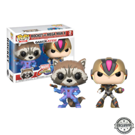 Marvel Gamerverse: Rocket vs Mega Man X Funko Pop 2 Pack