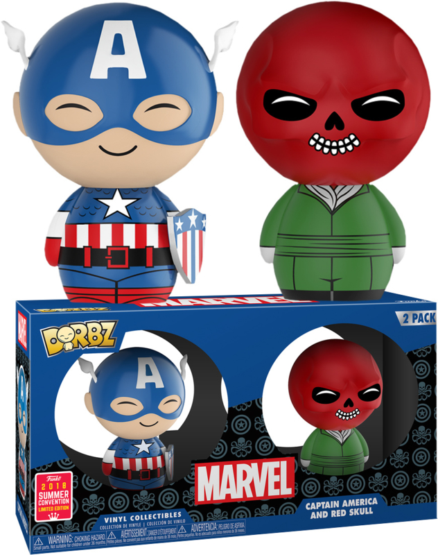 Marvel: Captain America and Red Skull Dorbz 2 Pack (SDCC Exclusive)