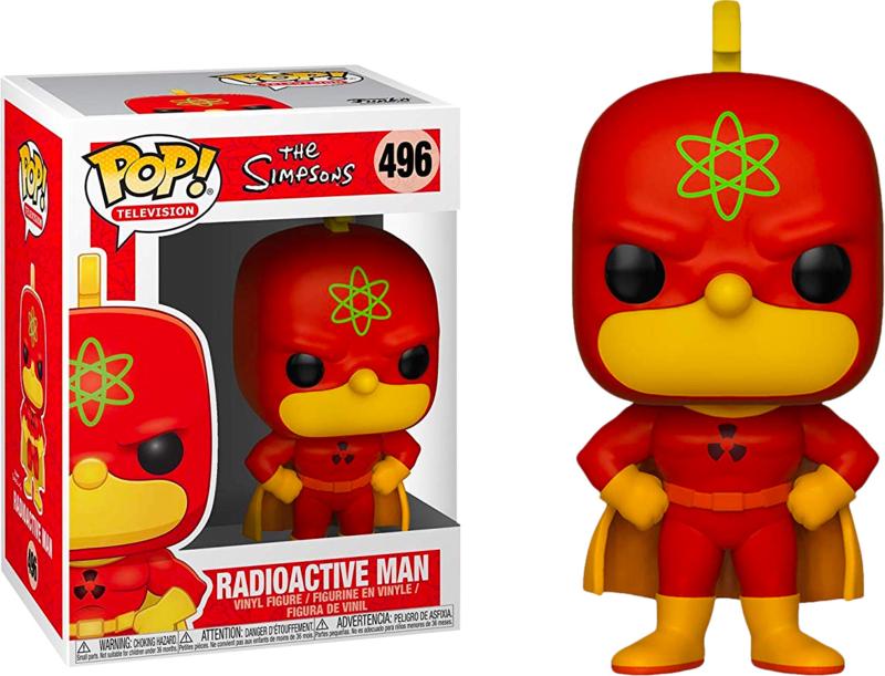 The Simpsons: Radioactive Man Funko Pop 496