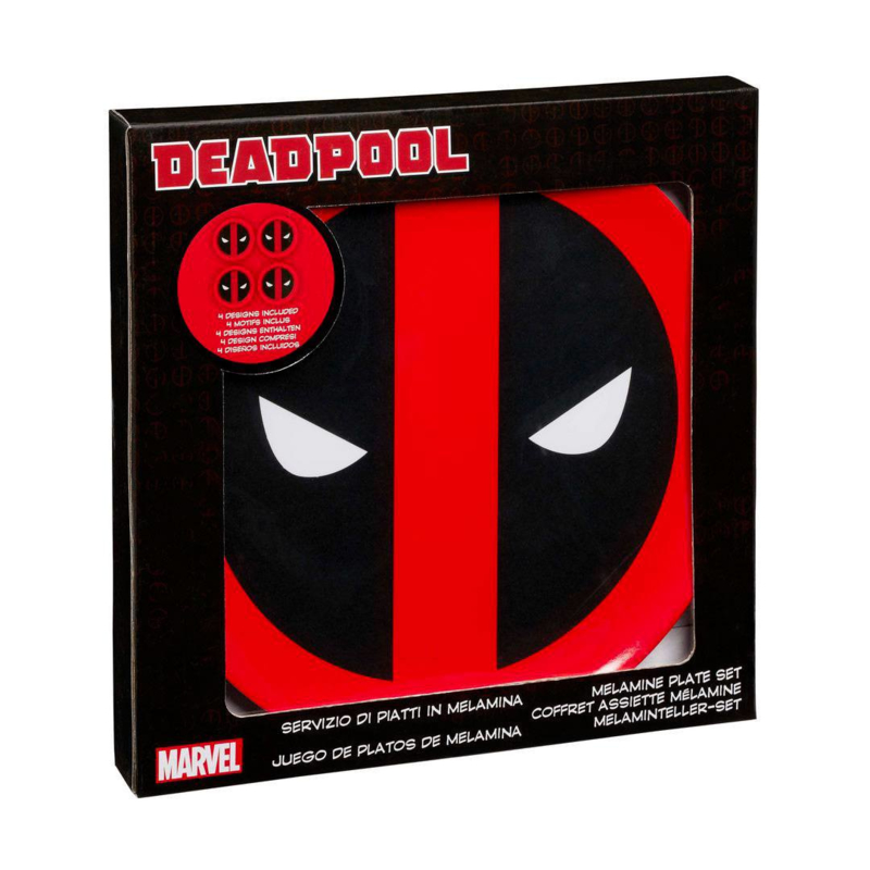 Marvel Deadpool: Melamine Borden set/4