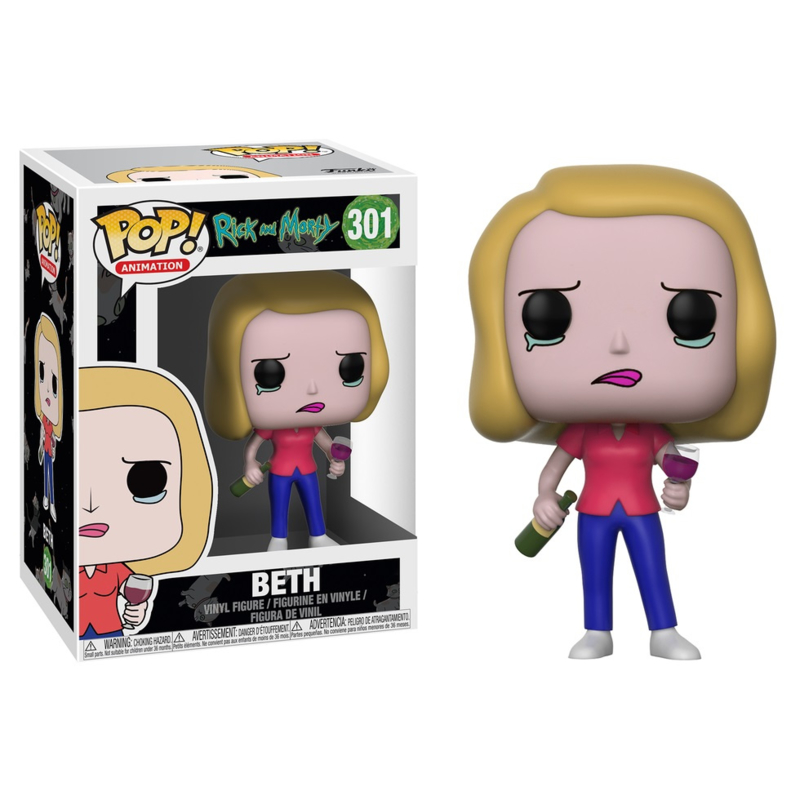 Ricky & Morty: Beth with Wineglass Funko Pop 301