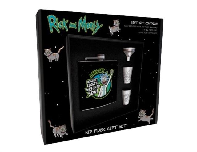 Rick and Morty Hip Flask Gift Set