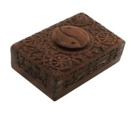 Yin Yang houtsnijwerk