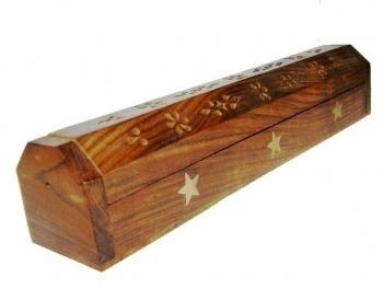 Wierookstokjes brander en bewaardoos sterren