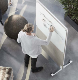 Vloerscherm met whiteboard
