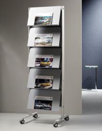 folderrek - tijdschriftenrek enkel | Wave totaalinrichting