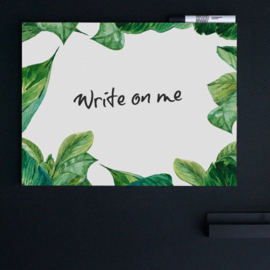 Dutch Design Whiteboard Green Leaves