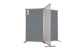 Scheidingswand - accent - 120x110 cm (BXH) grijs
