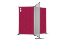 Scheidingswand - accent - 100x140 cm (BXH) roze