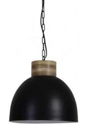 Hanglamp Industriële lamp Light&living Samana Zwart Wit Mat