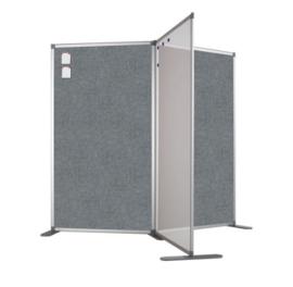 Scheidingswand - accent - 80x140 cm (BXH) grijs