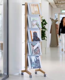folderrek - tijdschriftenrek enkel hout | Wave totaalinrichting