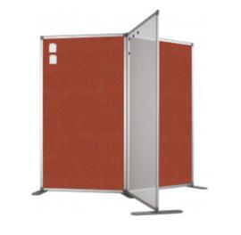 Scheidingswand - Accent - 80x110 cm (BXH) rood